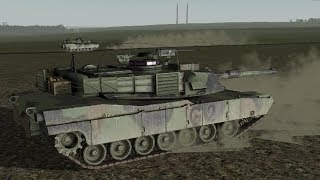 Abrams M1A2 vs T-34 ! Epic Tank Battle in War Game Men of War Assault Squad 2 Cold War Mod