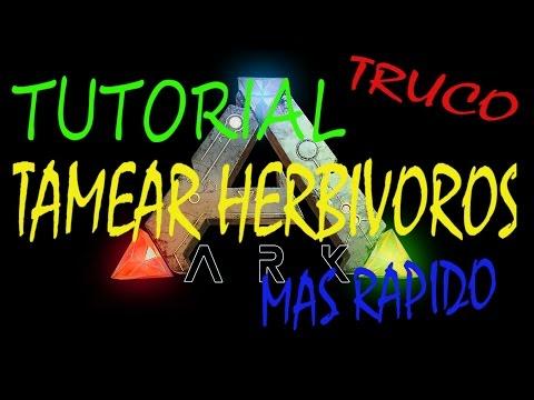 ARK SURVIVAL EVOLVED - TUTORIAL TRUCO TAMEAR HERBÍVOROS MAS RÁPIDO -