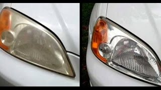 Elimina el amarillo de los faros de tu auto en sólo 5 minutos con esta mezcla casera!