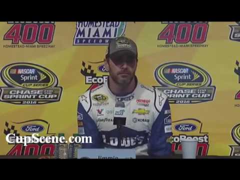 NASCAR at Homestead-Miami Speedway, Nov. 2016: Jimmie Johnson post race