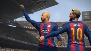 PES 2017 (FC Barcelona vs Real Madrid Gameplay)