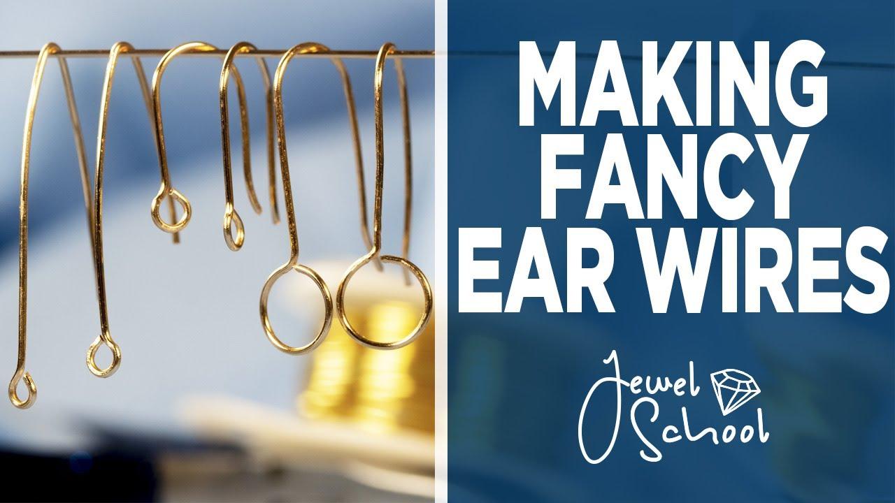 Making Fancy Ear Wires   Jewelry 101