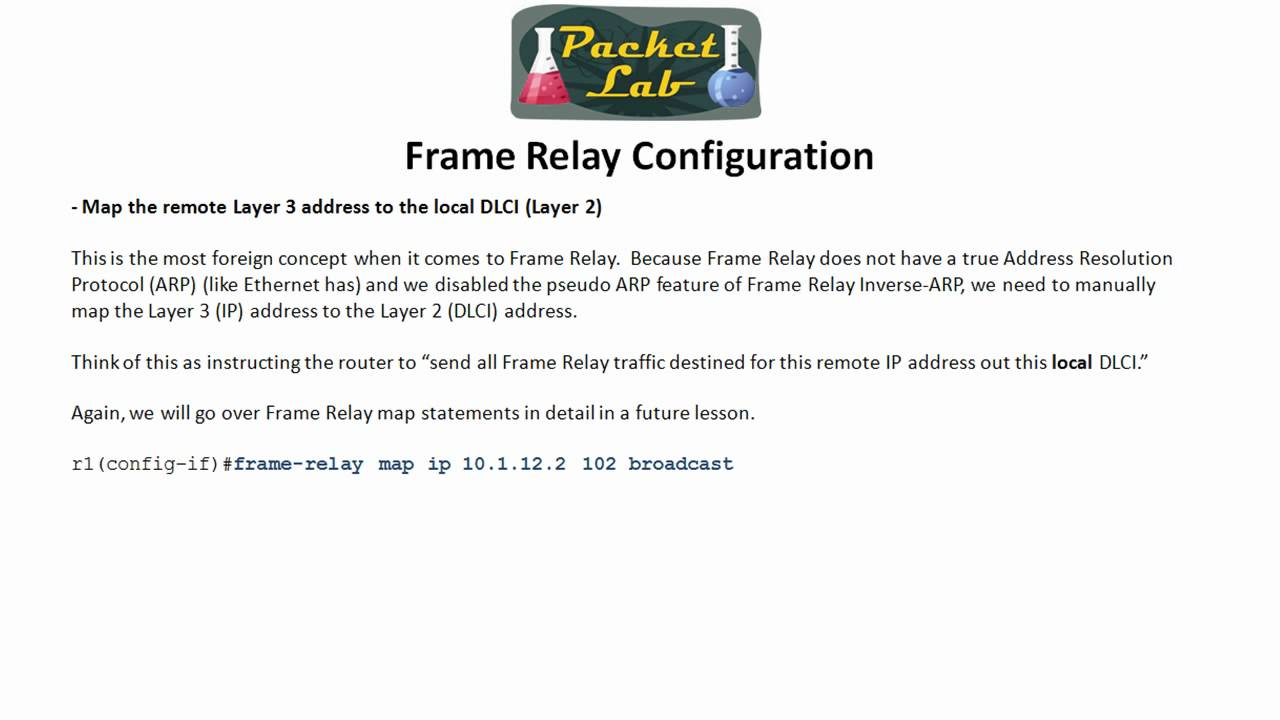 Frame Relay - Basic Configurations Point to Point - Part 1 - YouTube