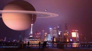 Si los planetas fueran lunas en la noche