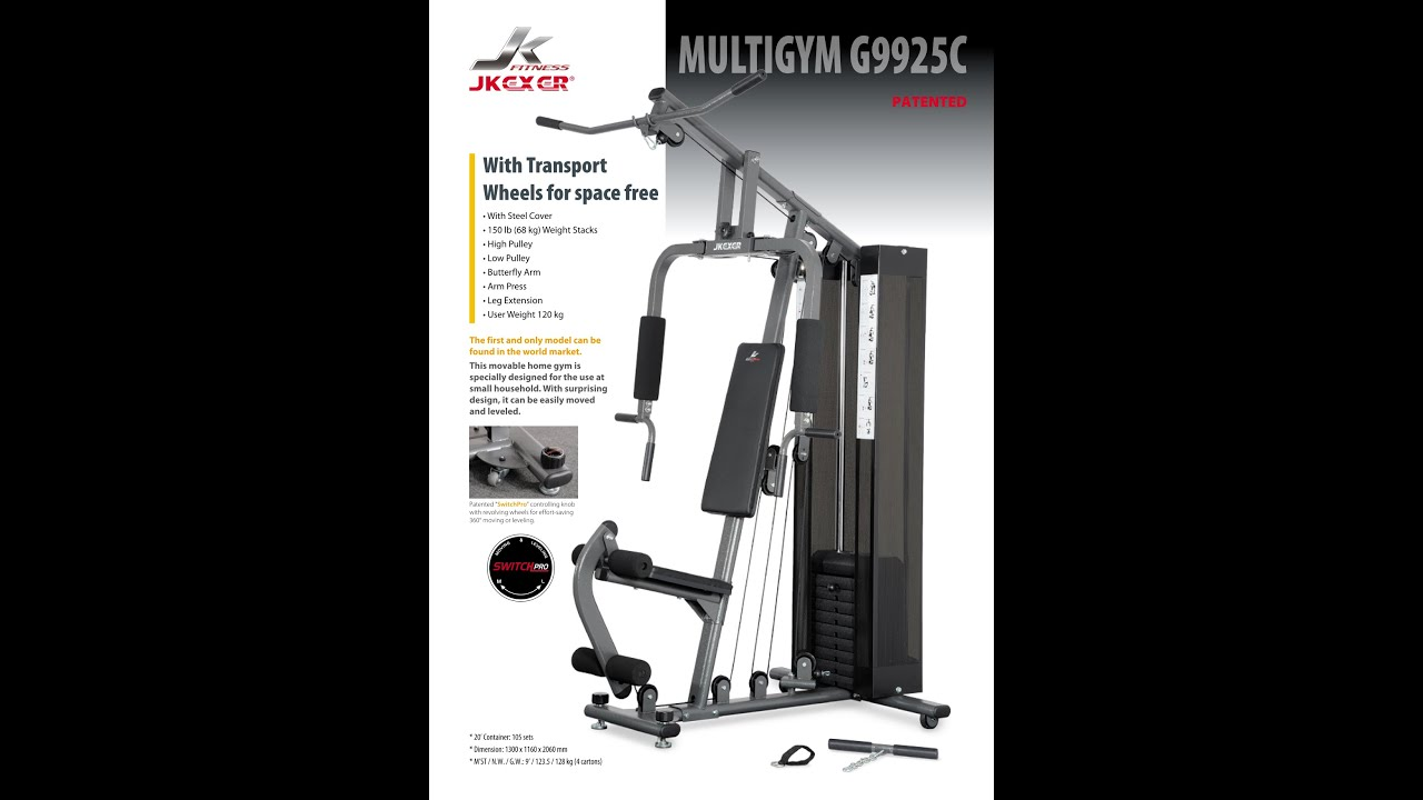 Jk Fitness Home Gym Patented Switch Pro Youtube