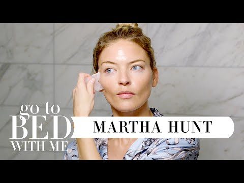 Model Martha Hunt's Nighttime Skincare Routine | Go To Bed With Me | Harper's BAZAAR