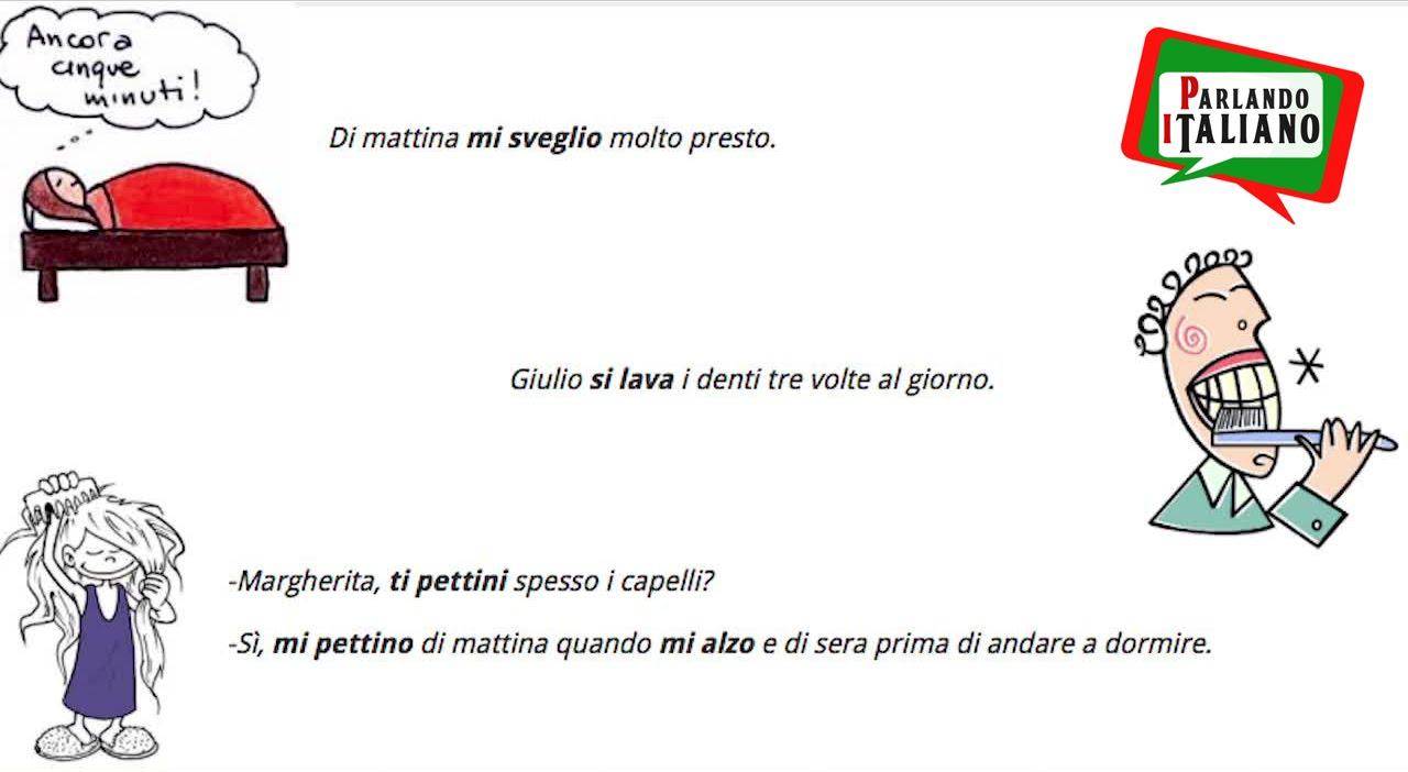 Italian Reflexive verbs - Learn Italian free