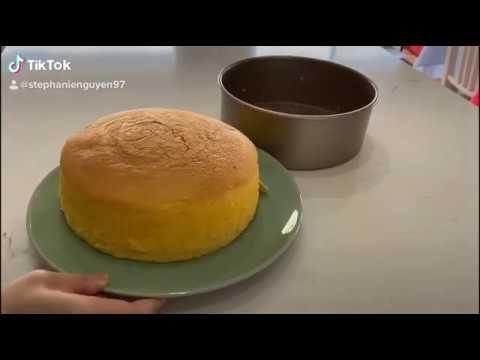 Tato làm Japanese Cheecake – Bánh bông lan phô mai Nhật bản