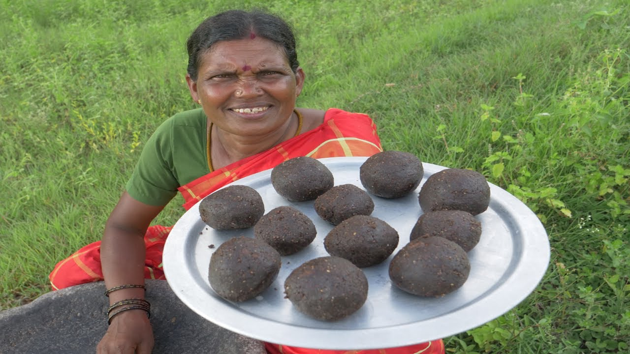 Ellu Urundai Recipe   Sesame Laddu Prepared in Village Style   Village Food   Side dish recipes