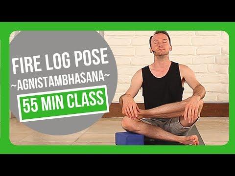 Yoga Class on Firelog Pose Agnistambhasana