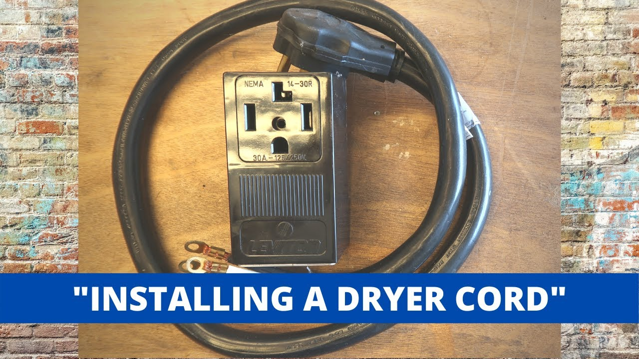 How To Install A 4 Prong Dryer Cord The Correct Way