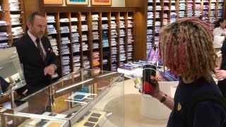 lil pump buying  1000 shoes at the mall