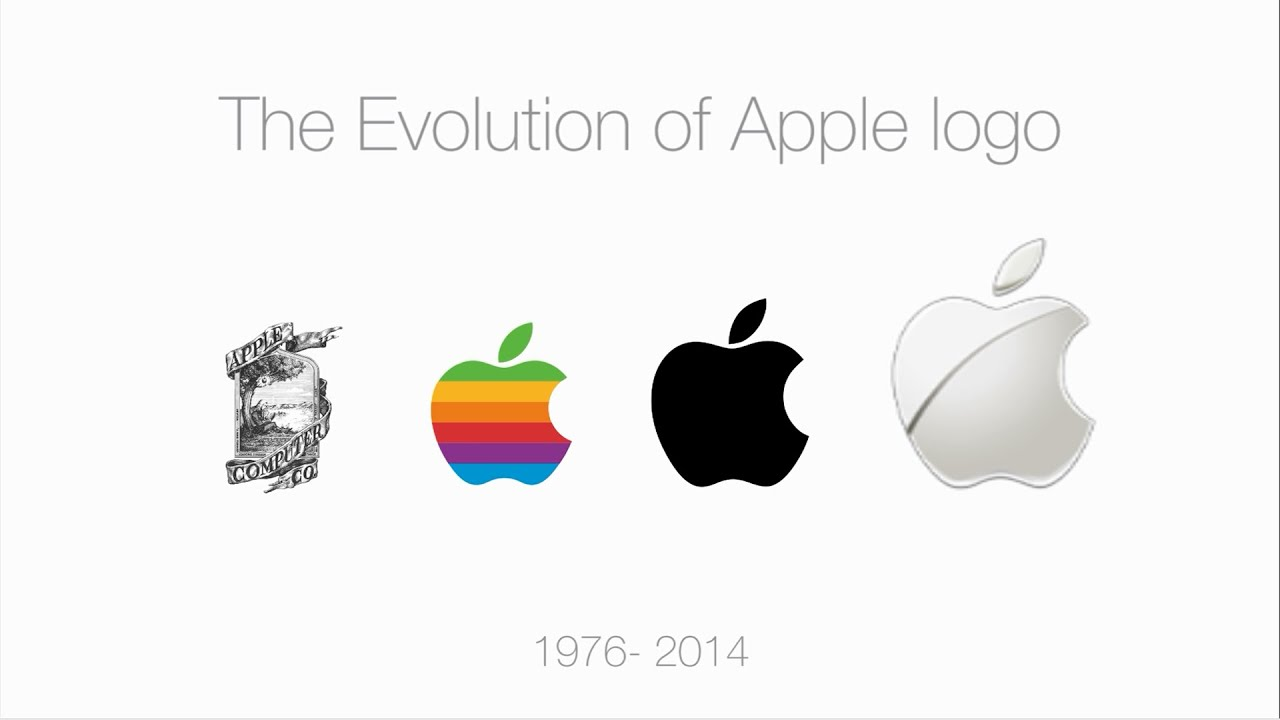 evolution of logo apple youtube