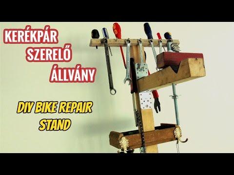 Homemade Bicycle Stand - DIY Bicycle Repair Stand