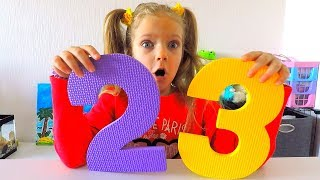 Learn numbers for children with Marianna. Funny drawings with numbers
