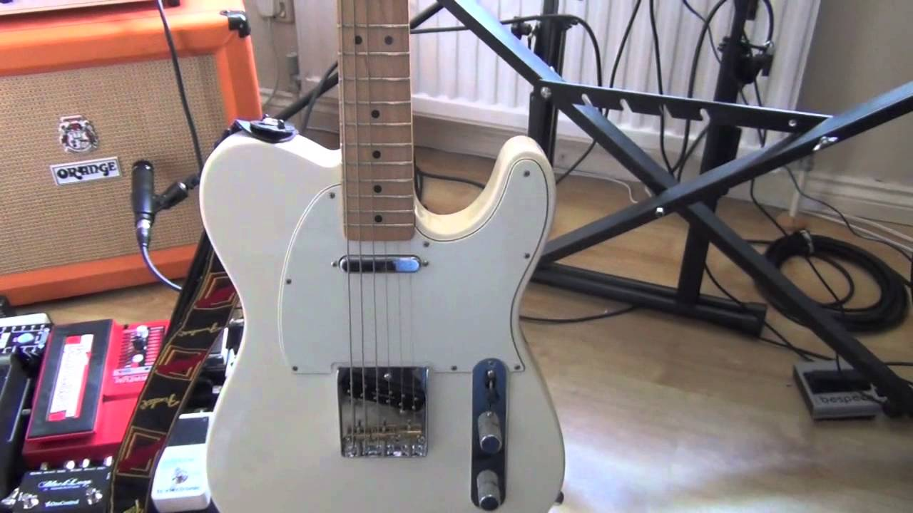 Modding an MIM Fender Telecaster with Seymour Duncan Pickups and Wilkinson  Base Plate