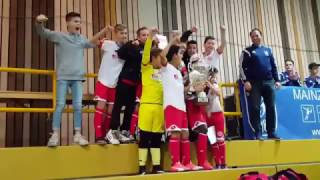 Siegerehrung Mini-Lilien-Cup Mainz 2017; Sieger 1. FSV MAINZ 05