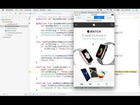 아이폰 ios swift 강좌 - 웹브라우저 만들기 #8