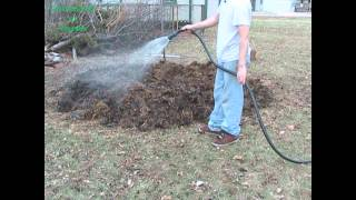 A Steaming Compost Volcano!
