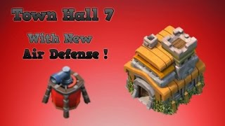 Clash Of Clans Town hall 7 Defense With Air Sweeper -Th7 Air sweeper base defense !