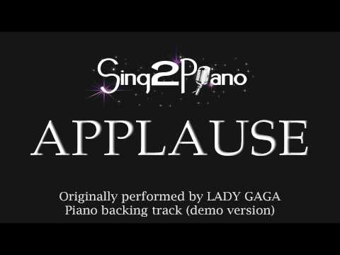 Applause (Piano Karaoke Version) Lady Gaga