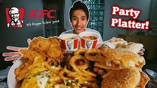 Massive Kfc Menu Challenge! | Party Size Kfc Platter Mukbang!