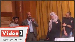 بالفيديو.. أشرف عبد الباقى وأوس أوس يفتتحان مسرح العرائس