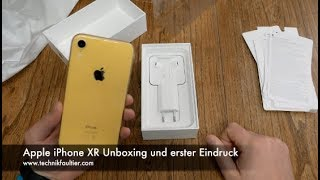 Apple iPhone XR Unboxing und erster Eindruck