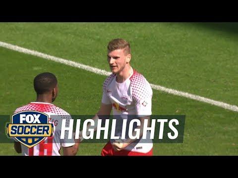 RB Leipzig vs. VfL Wolfsburg | 2017-18 Bundesliga Highlights