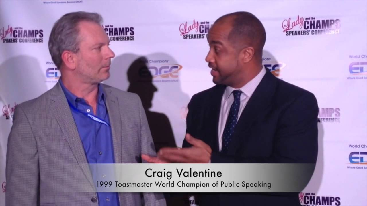 craig valentine toastmasters world champion talks about coach mark a vickers speaking is selling youtube - Craig Valentine