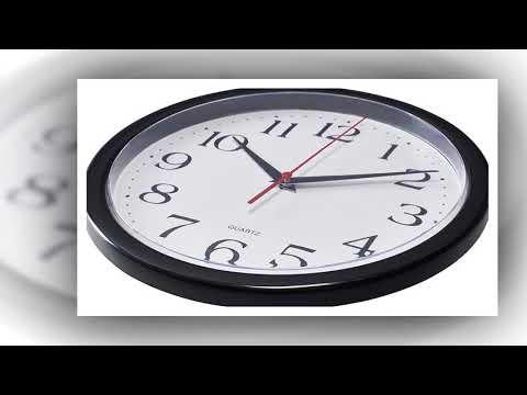BERNHARD PRODUCTS – BLACK WALL CLOCK