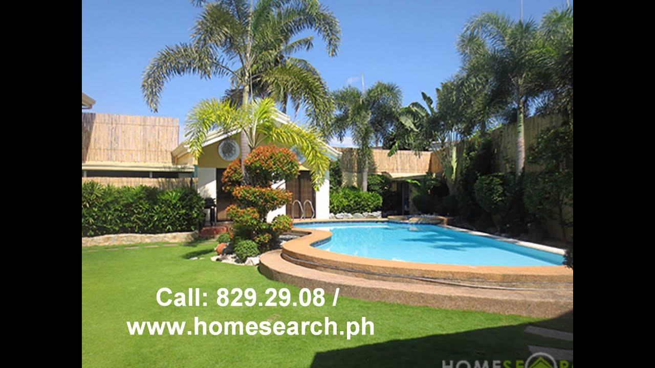 Grand 3 Story Mediterranean Inpired Home With Swimming Pool In Bf Homes 626sqm Corner Lot