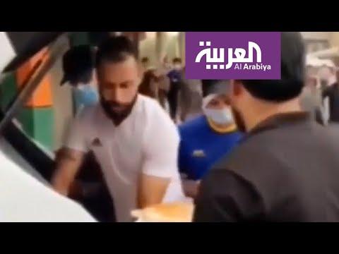 لاعبون عراقيون يقدمون المساعدة للمتظاهرين في ساحة التحرير  - 23:53-2019 / 11 / 9