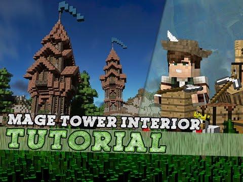 Minecraft Tutorial: Mage Tower Interior!