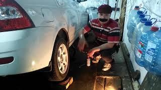Лада Приора. Замена задних тормозных колодок и тормозного цилиндра | Garage for boys