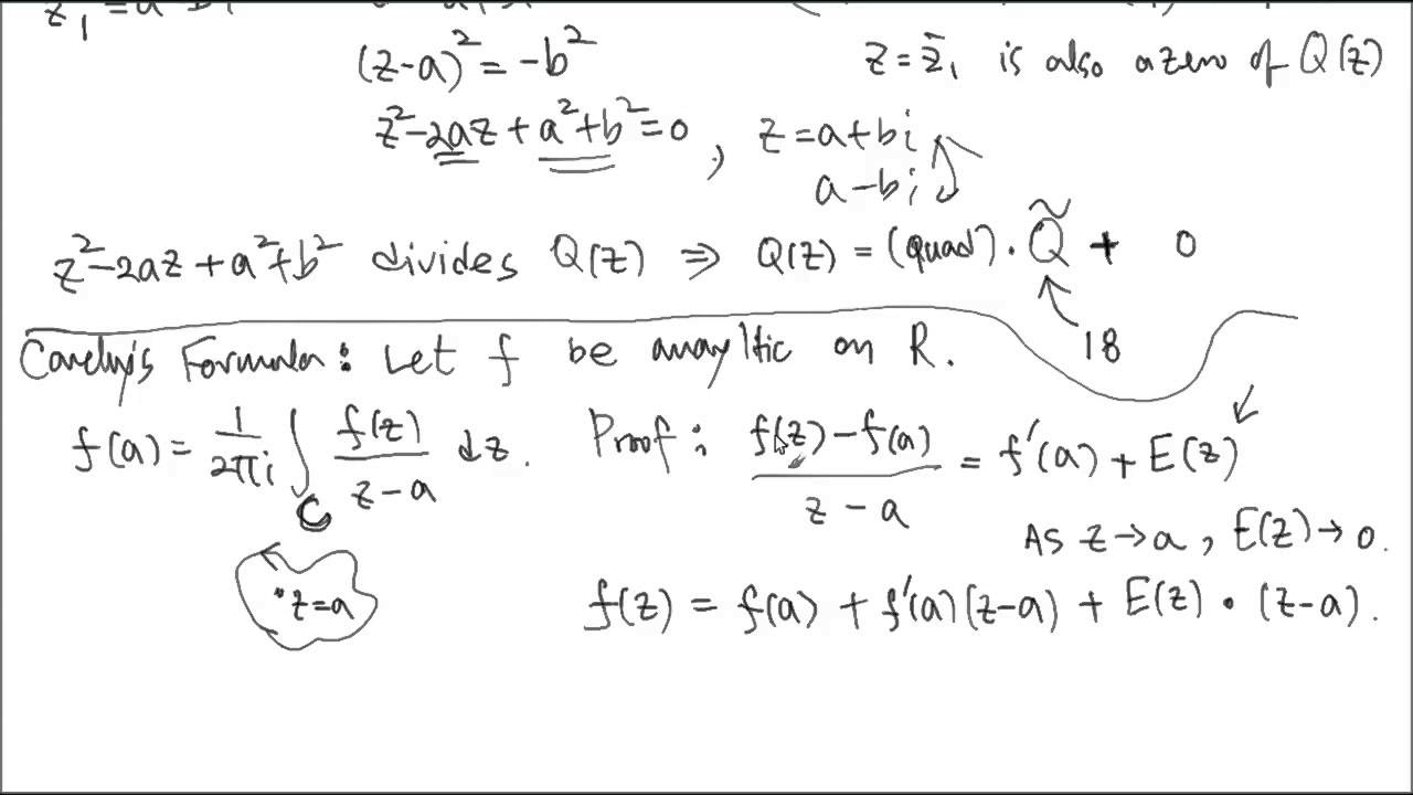 Cauchy's Integral Formula 1, Proof