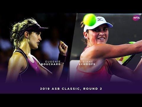 Eugenie Bouchard vs. Bibiane Schoofs | 2019 ASB Classic Second Round | WTA Highlights