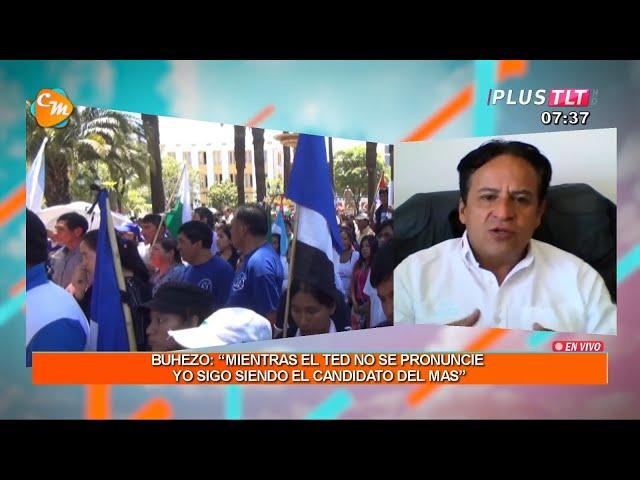 """BUHEZO: """"MIENTRAS EL TSE NO SE PRONUNCIE YO SIGO SIENDO EL CANDIDATO DEL MAS"""""""