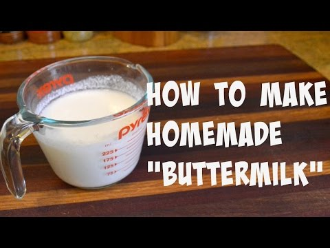 What can i use instead of buttermilk in a cake recipe