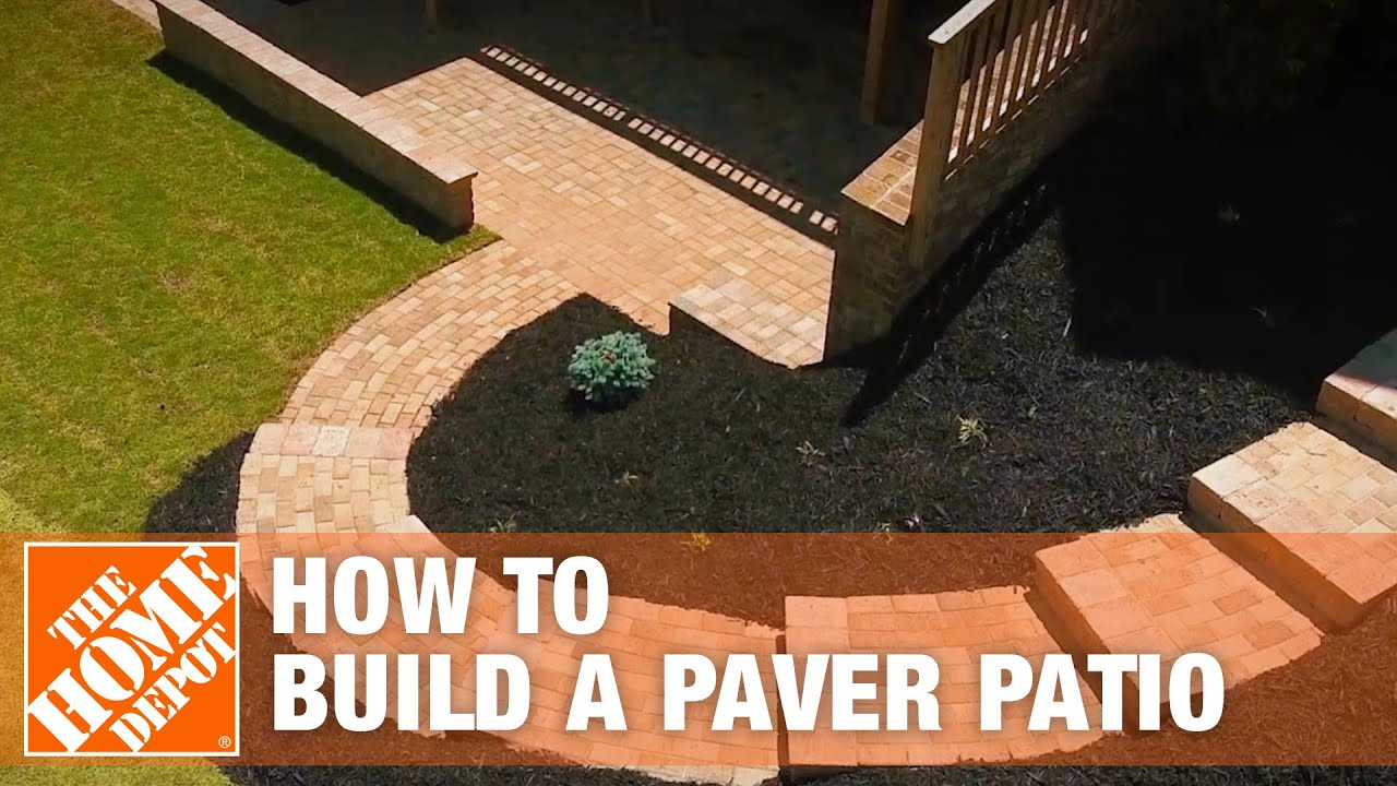 How To Build A Patio Diy Paver Patio The Home Depot