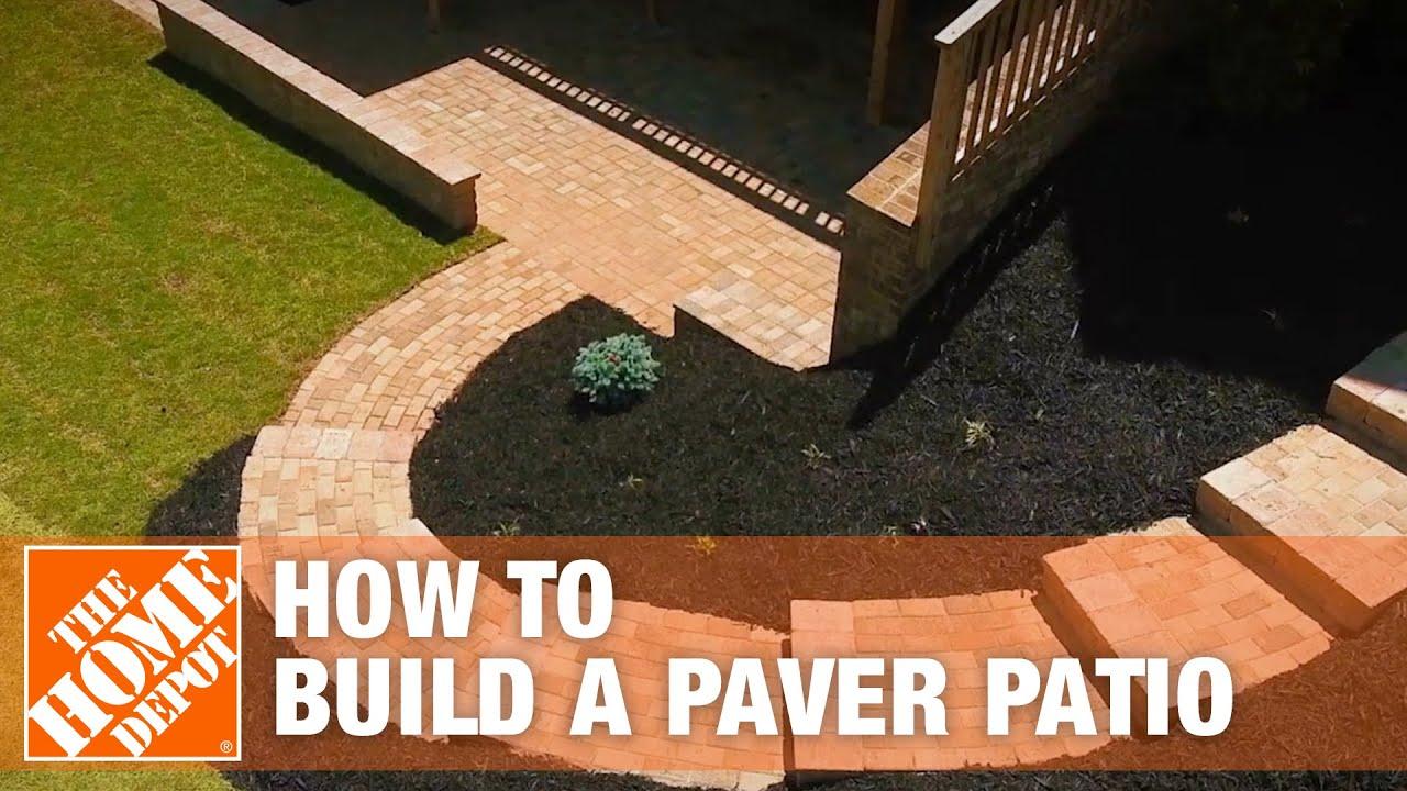 how to build a patio diy paver patio the home depot