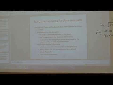 Lecture 1 Part 1 Corporation Tax Close Company Rules