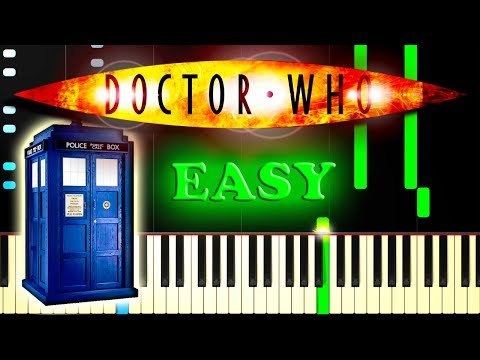 DOCTOR WHO THEME - Easy Piano Tutorial