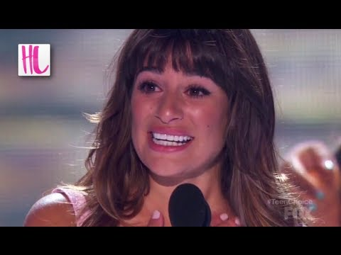 Lea Michele Cries For Cory Monteith At Teen Choice Awards 2013