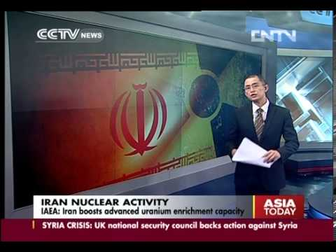 IAEA  Iran boosts advanced uranium enrichment capacity