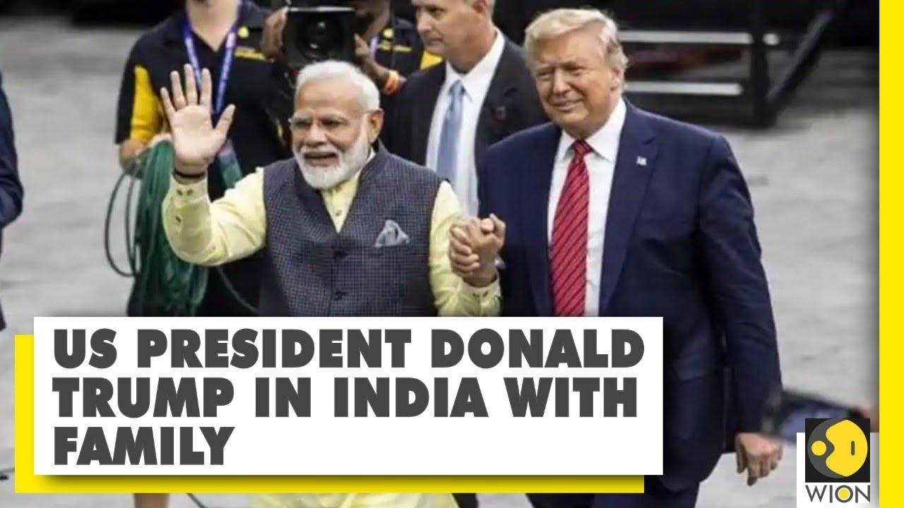 Download US President Donald Trump arrives in India | Trump India visit | PM Modi | Namaste Trump