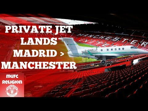 BREAKING NEWS - PRIVATE JET FROM MADRID LANDS IN MANCHESTER!
