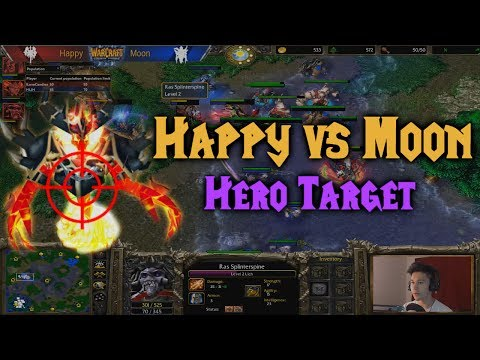 Warcraft 3 | Happy (U) vs Moon (N) | HERO TARGET