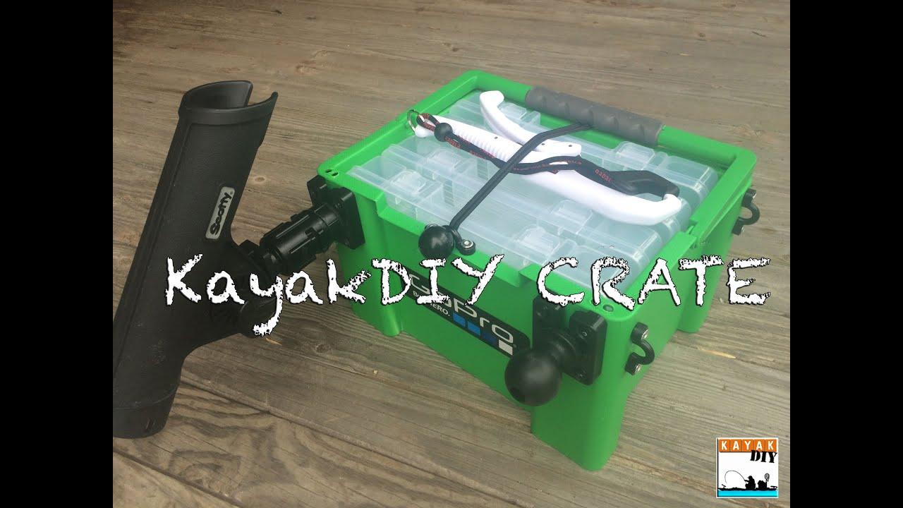 Diy Kayak Rack >> The Ultimate DIY Kayak Fishing Crate by KayakDIY - YouTube