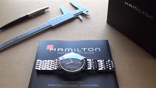 The Best Swiss Dress Automatic Around $500? - The Hamilton Insta-matic Black Dial Watch Review